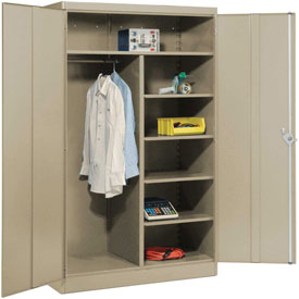 Lyon Combination Storage Cabinet PP1033  - 48x24x78 - Putty