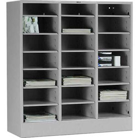 Tennsco Literature Organizer Cabinet 4075 053 - 21 Openning Letter Size - Light Grey