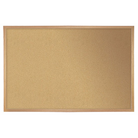 "Ghent® Cork Bulletin Board - Hardwood Oak - 72""W X 48""H"