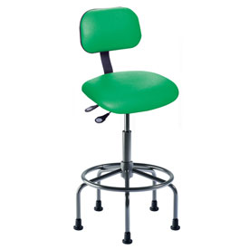 "Bio Fit Eton ET Series Manager Stool with Black Base, 25""-30"" Seat Height, Black Fabric"