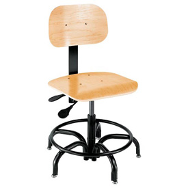 "Shop Stool - Wood - Height Adjustable 18"" - 23"""