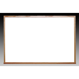Ghent 48.5 x 72.5in Wood Frame Non-Magnetic Whiteboard Includes 1 Marker & Eraser, Made in USA