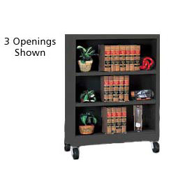 "Sandusky Steel Mobile Bookcase 36""W x 18""D x 36""H - Black"
