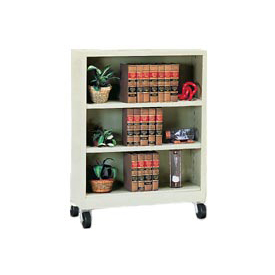 "Sandusky Steel Mobile Bookcase 36""W x 18""D x 48""H - Putty"