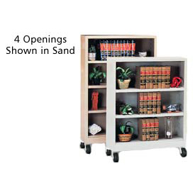 "Sandusky Steel Mobile Bookcase 36""W x 18""D x 58""H - Putty"