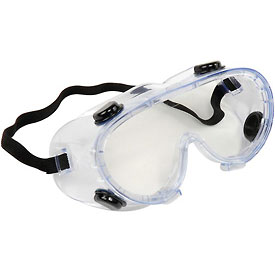ERB™ 15147 Chemical Splash Resistant Goggles - Anti-Fog, Clear Lens, Black Straps - Pkg Qty 24