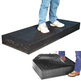 "7/8"" Thick Anti Fatigue Mat - Black 24X96"