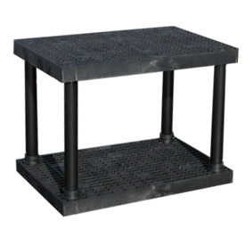 "Structural Plastic Vented Shelving, 36""W x 24""D x 27""H, Black"