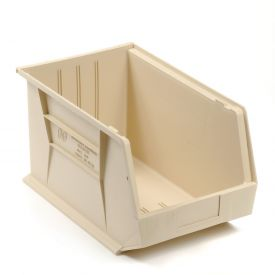 Quantum Stackable Storage Bin QUS255 11 x 16 x 8 Beige - Pkg Qty 4