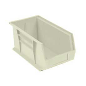 Quantum Stackable Storage Bin QUS265 8-1/4 x 18 x 9 Beige - Pkg Qty 6