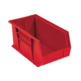 Quantum Plastic Storage Bin - Small Parts QUS265 8-1/4 x 18 x 9 Red