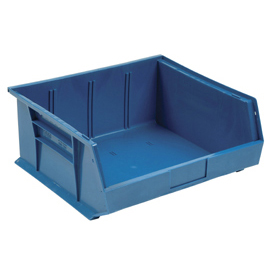 Quantum Hanging & Stacking Storage Bin QUS245 16-1/2 x 10-7/8 x 5 Blue - Pkg Qty 6