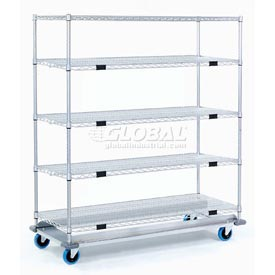 Nexel® Open Sided Wire Exchange Truck 5 Wire Shelves 1000 Lb. Cap
