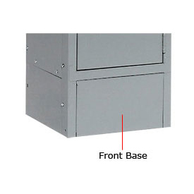 "Hallowell KCFB15HG Steel Locker Accessory, Closed Front Base 15""W x 6""H  725 Gray"