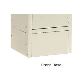 "Hallowell KCFB18PT Steel Locker Accessory, Closed Front Base 18""W x 6""H  729 Parchment"