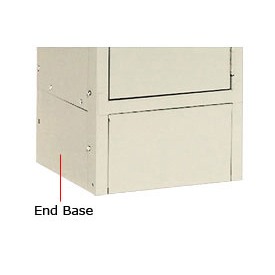 "Hallowell KCSB15PT Steel Locker Accessory, Closed Side Base 15""D x 6""H  729 Parchment"