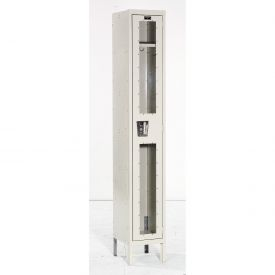 Hallowell USV1288-1PT Safety-View Locker Single Tier 12x18x72 1 Door Unassembled Parchment