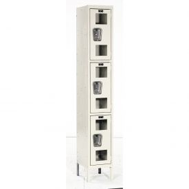 Hallowell USV1258-3PT Safety-View Locker Triple Tier 12x15x24 3 Doors Unassembled Parchment
