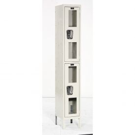 Hallowell USV1258-2A-PT Safety-View Locker Double Tier 12x15x36 2 Doors Assembled Parchment