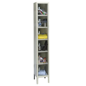 Hallowell USVP1288-6PT Safety-View Locker Six Tier 12x18x12 6 Doors Unassembled Parchment