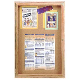 "United Visual Products Bulletin Board One Door, 36""W x 36""H"
