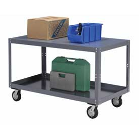 Portable Steel Table 2 Shelves 36x24 1200 Lb. Capacity Unassembled