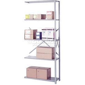 "Lyon Steel Shelving 20 Gauge 48""W x 24""D x 84""H Open Clip Style 5 Shelves Gy Add-On"