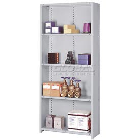 "Lyon Steel Shelving 22 Gauge 36""W x 12""D x 84""H Closed Clip Style 5 Shelf Gy Starter"