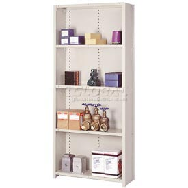 "Lyon Steel Shelving 22 Gauge 36""W x 24""D x 84""H Closed Clip Style 5 Shelf Py Starter"