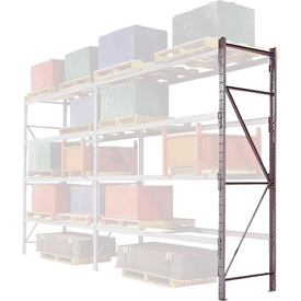 "Pallet Rack Upright Frame - 3"" Channel 48""D x 96""H"