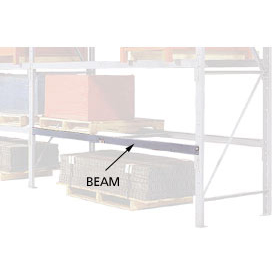 "Pallet Rack Beam Pair - 3"" Channel 96""W With No Back Brace"