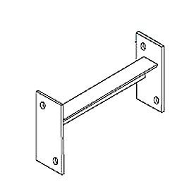 "Pallet Rack Slotted Row Spacer - 4"" Channel"