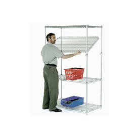 Quick Adjust Wire Shelving 36x18x63