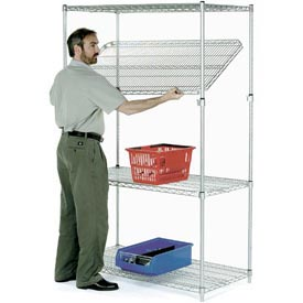 Quick Adjust Wire Shelving 60x24x74