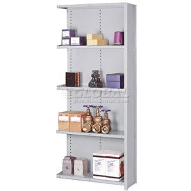 "Lyon Steel Shelving 20 Gauge 48""W x 18""D x 84""H Closed Clip Style 5 Shelf Gy Add-On"