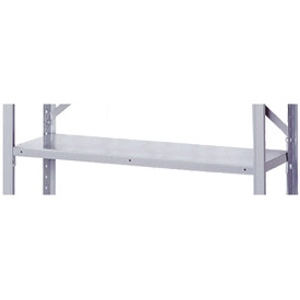"36"" x 18"" Gray Shelving Clip Style Accessory Shelf With Clips"