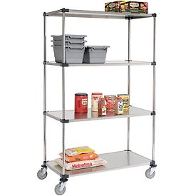 Nexel® Stainless Steel Shelf Truck 48x24x80 1200 Pound Capacity