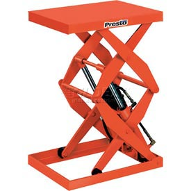 PrestoLifts™ Power Double Scissor Lift Table DXS36-10 Foot Control 1000 Lb