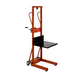Wesco® Compact Lift Truck Hand Operated Winch with Platform 260152 500 Lb. Cap.