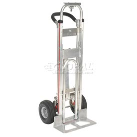"Magliner® TPAUA4 Aluminum 3-in-1 Hand Truck with 10"" Full Pneumatic Wheels"