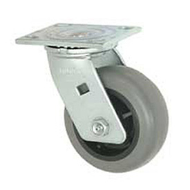 "Faultless Swivel Plate Caster 493-5 5"" TPR Wheel"