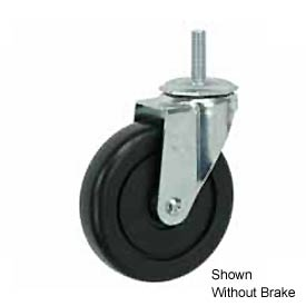 "Faultless Swivel Threaded Stem Caster G460S-4RB 4"" Polyolefin Wheel with Brake"