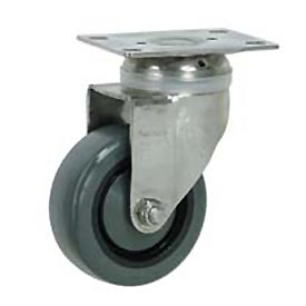 "Faultless Stainless Steel Swivel Plate Caster S896-4 4"" Polyurethane Wheel"