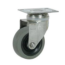 "Faultless Stainless Steel Swivel Plate Caster S890-5 5"" TPR Wheel"