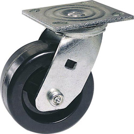 "Faultless Swivel Plate Caster 1461-4 4"" Polyolefin Wheel"