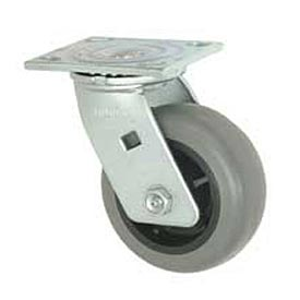 "Faultless Swivel Plate Caster 1491-5 5"" TPR Wheel"