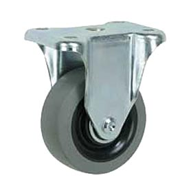 "Faultless Rigid Plate Caster 3491-8 8"" TPR Wheel"
