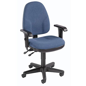 Multifunction Office Chair - Fabric - Mid Back - Blue