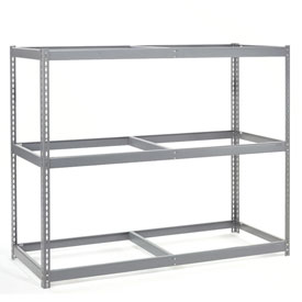 "Wide Span Rack 60""W x 24""D x 60""H With 3 Shelves No Deck 1200 Lb Capacity Per Level"