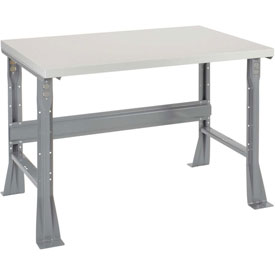 "48""W X 30""D X 34""H Plastic Laminate Square Edge Workbench - Gray"